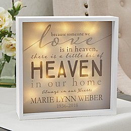 Heaven In Our Home Personalized LED Ivory Light Shadow Box Collection