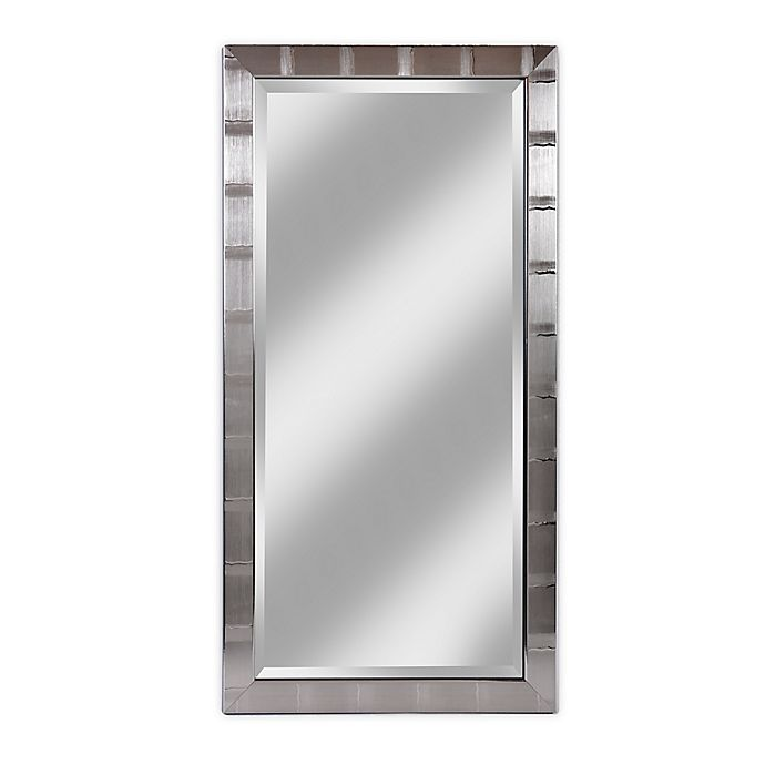 Alternate image 1 for Alpine Art & Mirror Hamilton Silver Rectangular Beveled Wall Mirror