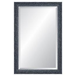 Reveal Frame & Decor Peppercorn Black Rectangle Beveled Wall Mirror