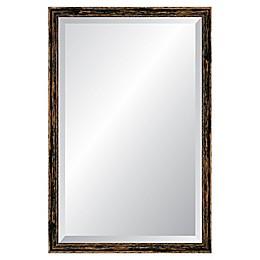 Reveal Frame & Decor Deep Farmhouse Worn Charcoal Rectangular Beveled Wall Mirror