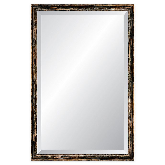 Alternate image 1 for Reveal Frame & Decor Deep Farmhouse Worn Charcoal Rectangular Beveled Wall Mirror