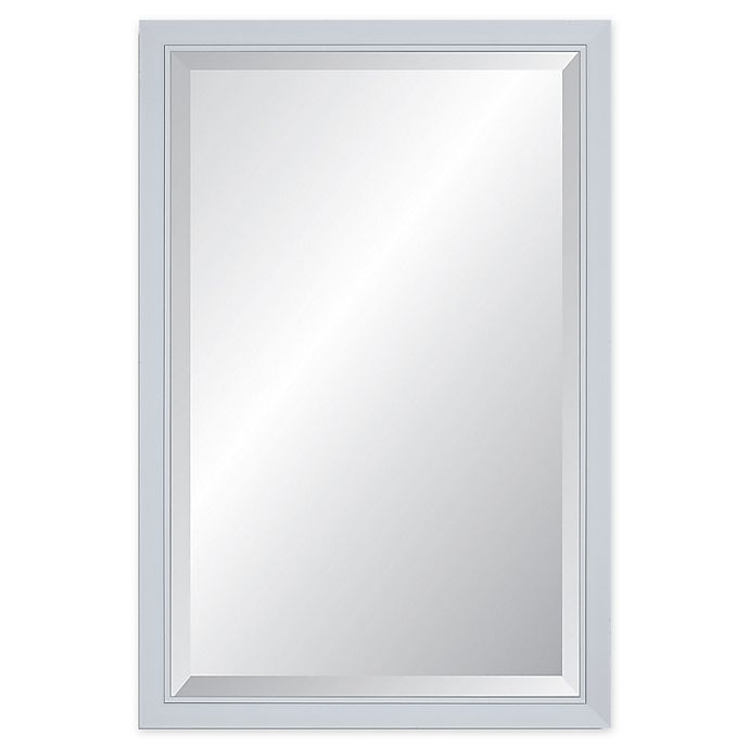 Alternate image 1 for Reveal Frame & Decor Glacier Gloss White Beveled Wall Mirror