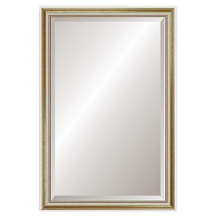 Alternate image 1 for Reveal Frame & Decor Gold Leaf 24.5-Inch x 39.5-Inch Rectangular Beveled Wall Mirror