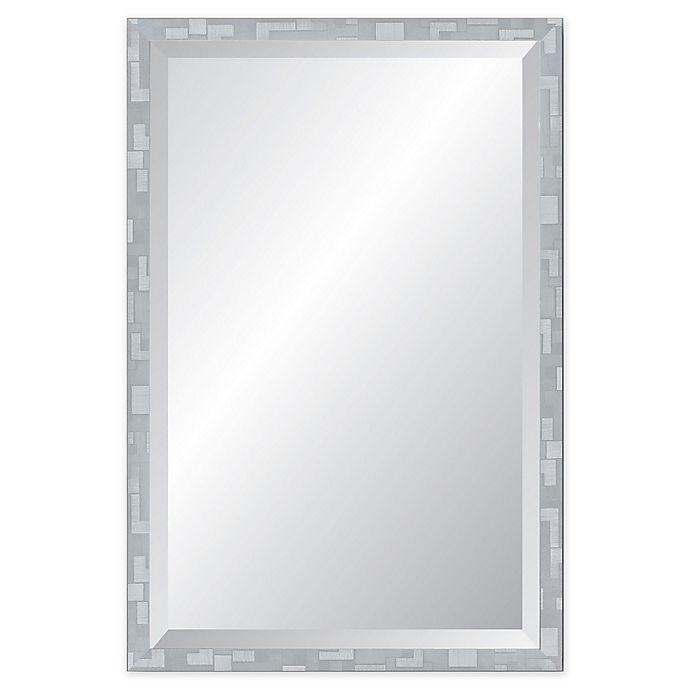 Alternate image 1 for Reveal Frame & Decor Millennium Geometric Silver Rectangular Beveled Wall Mirror