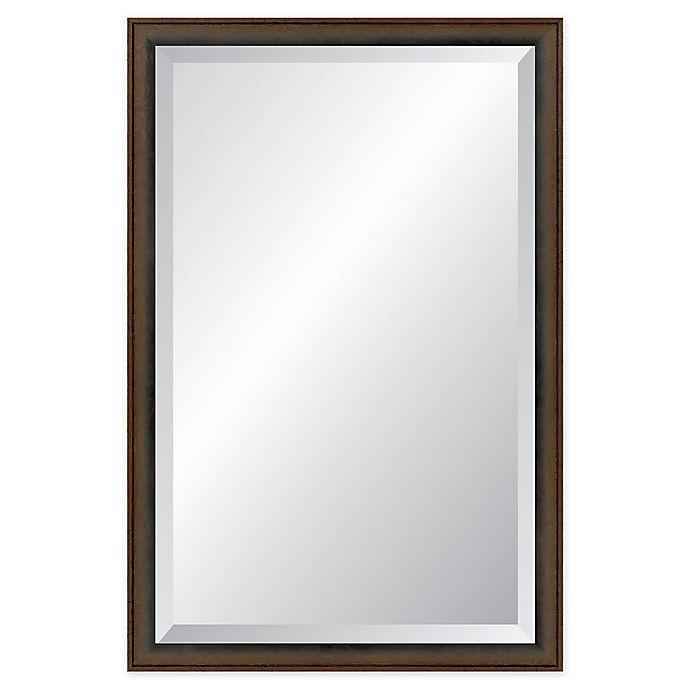 Alternate image 1 for Reveal Frame & Decor Robust Foundry Bronze Rectangular Beveled Wall Mirror