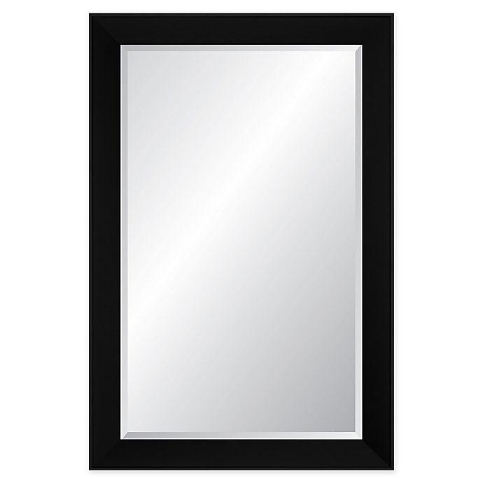 Alternate image 1 for Reveal Frame & Decor Midnight Black Rectangular Beveled Wall Mirror