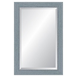 Reveal Frame & Decor Provincetown Blue Rectangular Beveled Wall Mirror