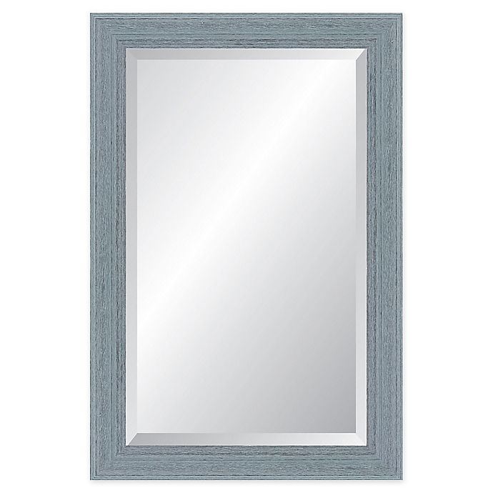Alternate image 1 for Reveal Frame & Decor Provincetown Blue Rectangular Beveled Wall Mirror