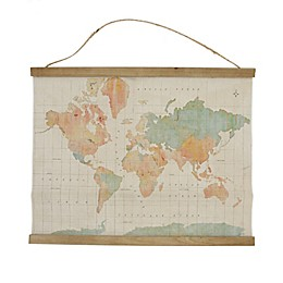 Global Caravan™ 21.5-Inch x 17-Inch Hanging Map Banner in Bronze