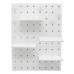 Pegboard Metal Organizer Storage Kit in White