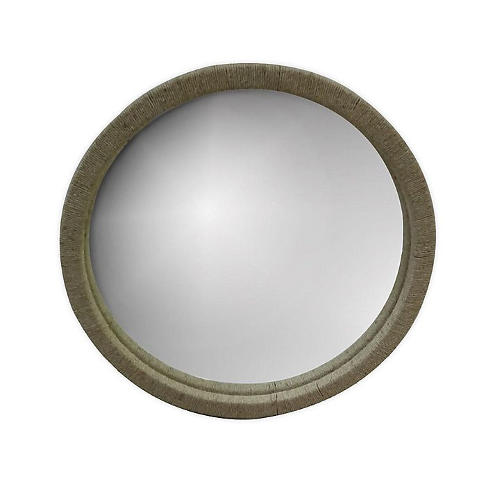 Alternate image 1 for Global Caravan™ 30-Inch Round Raffia Wall Mirror in Natural
