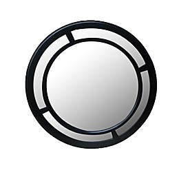 W Home 23.5-Inch Double Black Circle Mirror