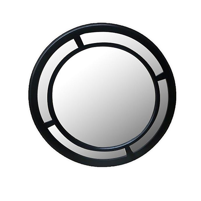 Alternate image 1 for W Home 23.5-Inch Double Black Circle Mirror