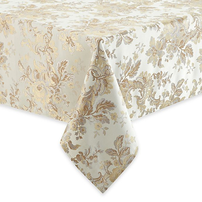 Alternate image 1 for Waterford® Linens Marcelle Tablecloth in Ivory