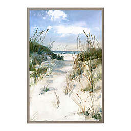 Dune View 25-Inch x 37-Inch Framed Canvas Wall Art