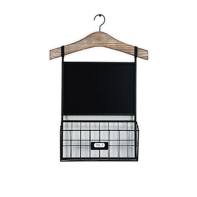 Alternate image 1 for Bee & Willow™ Home Metal Chalkboard with Bin Rack