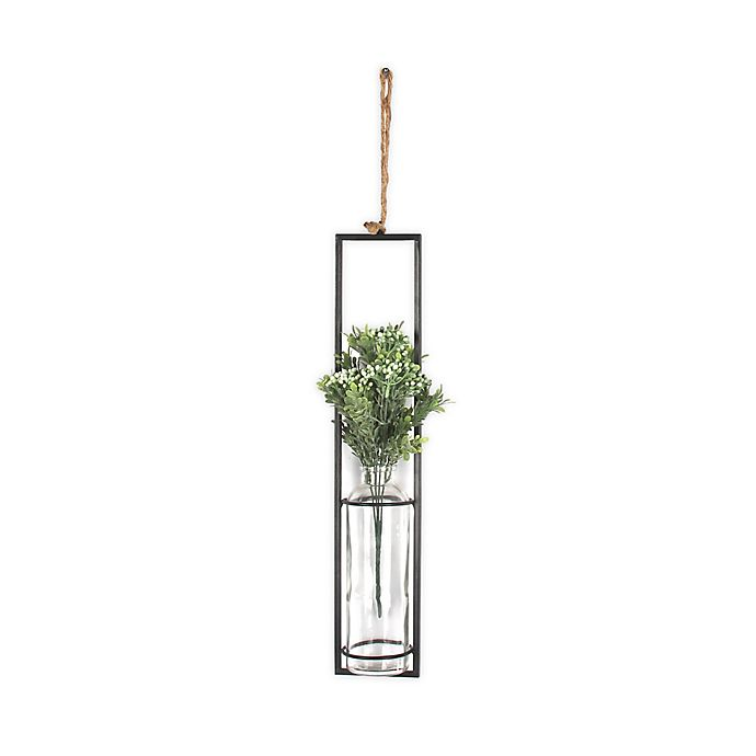 Alternate image 1 for Bee & Willow™ Home Iron Wall Vase with Faux Flowers