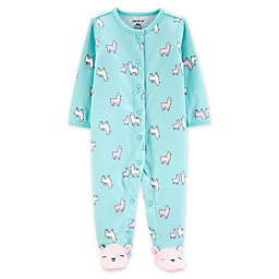 carter's® Size 3M Snap-Front Llama Sleep & Play Footie in Turquoise