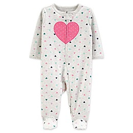 carter's® Heart 2-Way Zip Sleep & Play Footie
