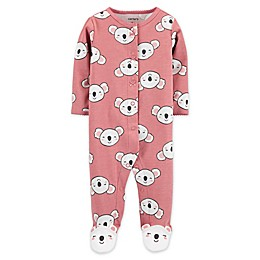 carter's® Koala Snap-Front Sleep & Play Footie in Pink
