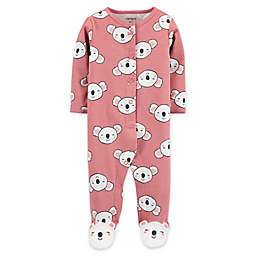 carter's® Size 3M Koala Snap-Front Sleep & Play Footie in Pink