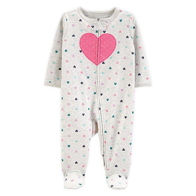 Alternate image 1 for carter's® Preemie Heart Sleep N' Play Footie