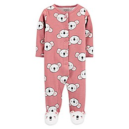 carter's® Preemie Snap-Front Koala Sleep & Play Footie in Pink