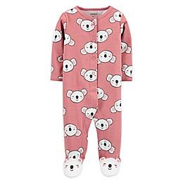 carter's® Preemie Snap-Front Koala Sleep & Play Footie in Pink