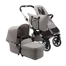 Bugaboo Donkey2 Mineral Complete Single Stroller in Light Grey