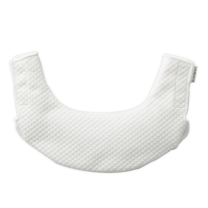 Alternate image 1 for BABYBJÖRN® Teething Bib for Baby Carrier One in Natural White