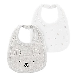 carter's® 2-Pack Embroidered and Printed Bibs