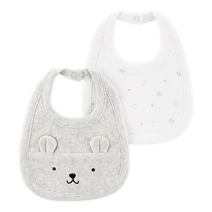 Alternate image 1 for carter's® 2-Pack Embroidered and Printed Bibs