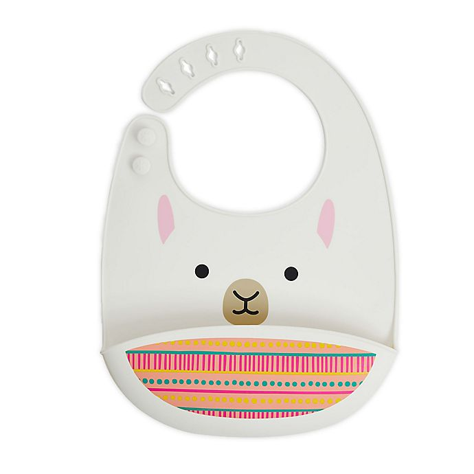 Alternate image 1 for SKIP*HOP® Llama ZOO Tuck-Away Silicone Bib