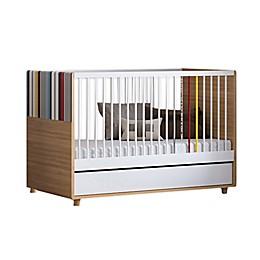 little guy comfort Evolve 3-in-1 Convertible Crib in Oak