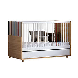 little guy comfort Evolve 3-in-1 Convertible Crib in Oak
