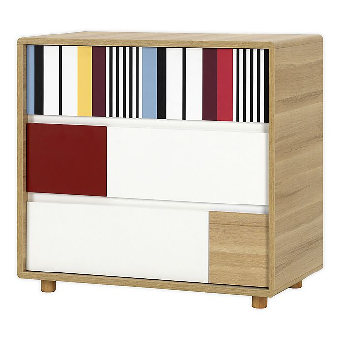 Alternate image 1 for little guy comfort Evolve 3-Drawer Dresser in Oak