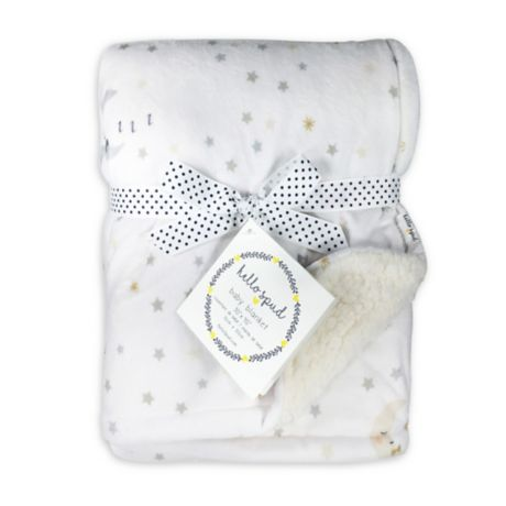 You are Loved Moon Classic White 40 x 30 Soft Polyester Baby Throw Blanket