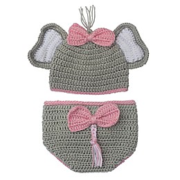 So 'dorable 2-Piece Elephant Hat and Diaper Cover Set in Grey