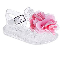Stepping Stones Flower Glitter Jelly Sandal