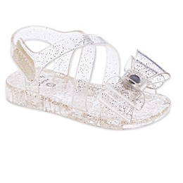 Stepping Stones Glitter Jelly Sandal in Gold