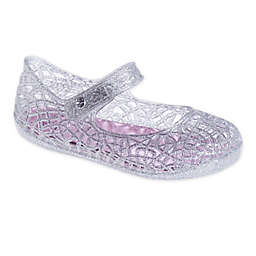 Stepping Stones Glitter Jelly Shoe in Silver