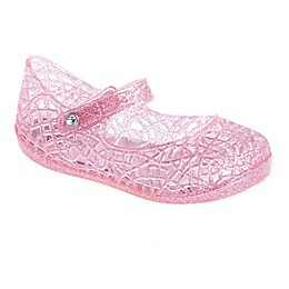 Stepping Stones Glitter Jelly Shoe in Pink