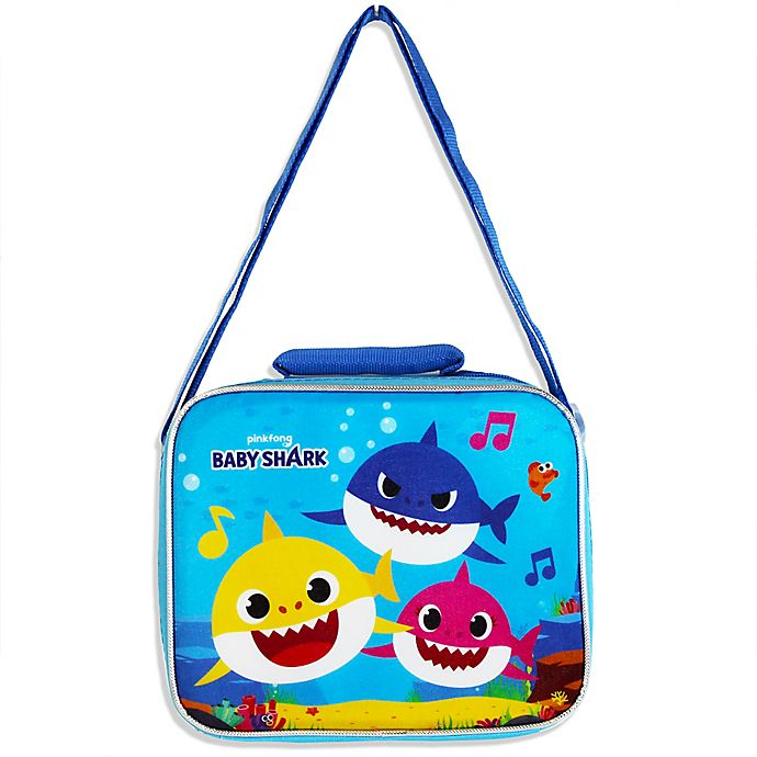 Alternate image 1 for Baby Shark Insulated Lunch Bag in Blue