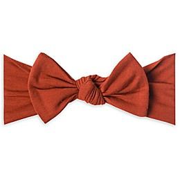 Copper Pearl One Size Bow Headband in Rust