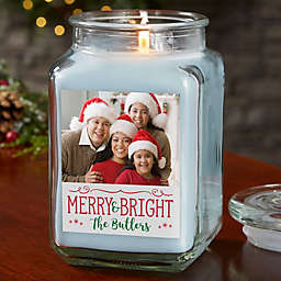 Picture Perfect Holiday Personalized Crystal Waters Candle Jar