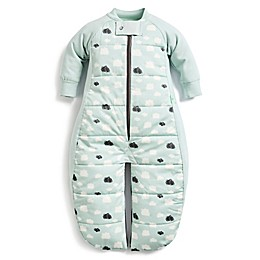 ergoPouch® 3.5 TOG Clouds Organic Cotton Sleep Suit Bag in Blue