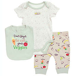 Baby Starters® 3-Piece Grow Love Bodysuit, Big and Pant Set in Ivory