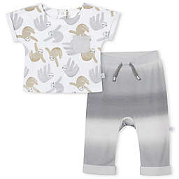 Just Born® 2-Piece Ombre Sloth Short Sleeve Top and Pant Set