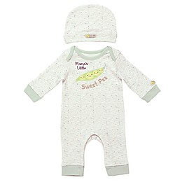 Baby Starters® 2-Piece Mommy Pea Coverall and Hat Set
