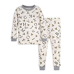 Burt's Bees Baby® 2-Piece A-Bee-C Organic Cotton Toddler Pajama Set in Eggshell